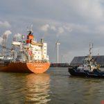 Sampogracht verlaat Eemshaven
