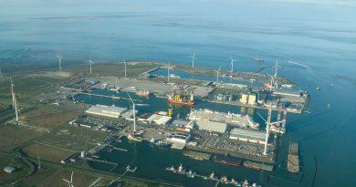 Bouw windpark Hollandse Kust Noord vanuit Eemshaven