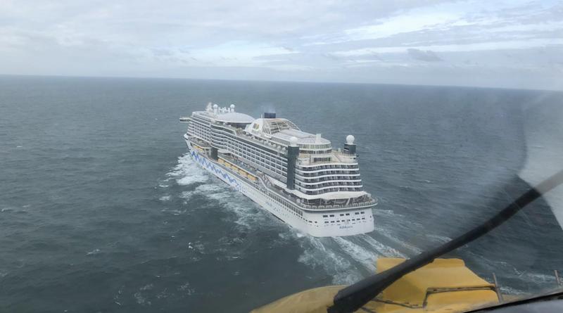 Medische evacuatie van cruiseschip op Noordzee