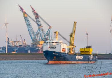 Fairlane verlaat Eemshaven richting Frankrijk