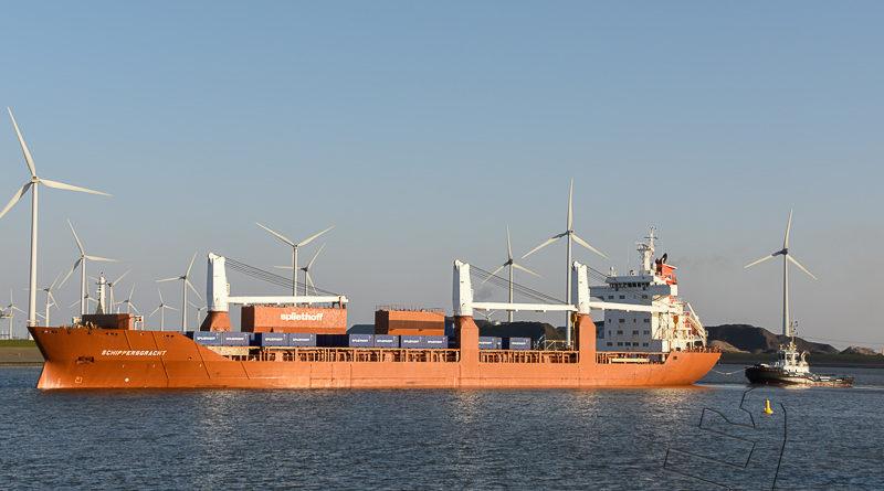 Schippersgracht naar zee voor een reis naar de Verenigde Staten
