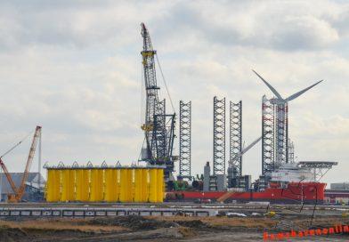 Pacific Orca naar Eemshaven voor bouw Hornsea 2
