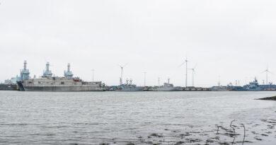 Marineschepen gearriveerd in Eemshaven
