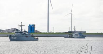 Uittocht van marinevaartuigen